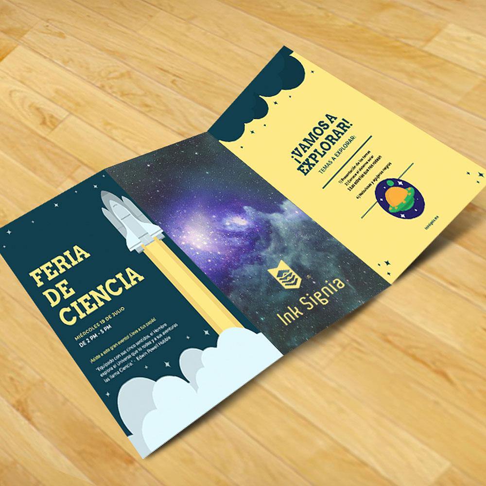 impresión y diseño de tripticos publicitarios e informartivos